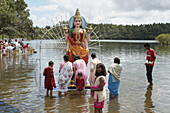 Grand bassin pilgrimage place for the hindu. Mauritius.