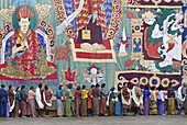 The mere vision of a such a holy thangka is supposed to wash away the sins of a lifetime