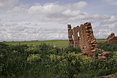 Abandoned, Abandonment, Color, Colour, Daytime, Exterior, Horizon, Horizons, Landscape, Landscapes, Nature, Nobody, Outdoor, Outdoors, Outside, Remains, Scenic, Scenics, Vegetation, V86-691200, agefotostock