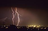 Thunderstorm. Castellón, Comunidad valenciana, Spain.