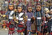 Nepal, Kathmandu, puppets for sale