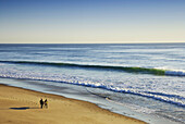Surfers Walking on Beach, Nauset Light Beach, Cape Cod National Seashore, Eastham, Cape Cod, Massachusetts, USA