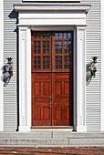 Front Door and Doorway of Home, Sandwich, Cape Cod, Massachusetts, New England, USA