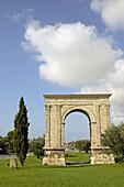 Arc de Barà, Roman arch (Unersco World Heritage). Tarragona province. Catalonia. Spain