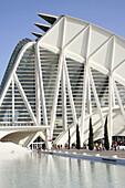 Museo of Sciences Príncipe Felipe, City of Arts and Sciences by S. Calatrava. Valencia, Comunidad Valenciana, Spain