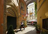 Austria, Vienna, Griechenbeisl Lieber Augustin lantern