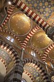 Notre Dame de la Garde basilica interior. Marseille. Provence. France.