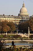 France, Paris, Luxembourg garden, Panthéon