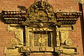 Nepal, Kathmandu Valley, Bhaktapur, Kasi Biswanath temple, window