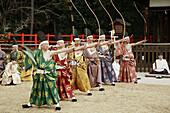 Japan, Kansai, Kyoto, Musha Shinji archery ceremony