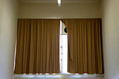 Curtain in a public building, Arles, France, Europe