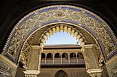 Patio de las Damas (Courtyard of the Maidens), Reales Alcazares, Sevilla. Andalucia, Spain