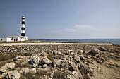 Spain. Balearics. Menorca island.. Cap d'Artrutx lighthouse