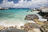 Woman on float, The Baths, Virgin Gorda, British Virgin Islands