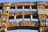Buddhist monuments: Torana of Big stupa (1 c. AD), UNESCO World Heritage site, Sanchi, India