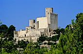 Castillo Castle, Castle, Century X, Castellet i la Gornal, Middle Ages, of the Parc Natural Foix, Natural Park of Foix, Spain, Catalunya, Catalonia, Barcelona, Alt Penedes, Penedes, Sunny.