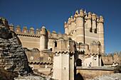 Castle keep (15th century), Coca. Segovia province, Castilla-Leon, Spain