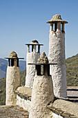 Chimneys, Bubion, Alpujarras. Granada province, Andalucia, Spain
