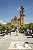 Square and parish church of Santa Ana, Algodonales. Pueblos Blancos (white towns), Cadiz province, Andalucia, Spain