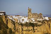 St Peters church, Arcos de la Frontera. Pueblos Blancos (white towns), Cadiz province, Andalucia, Spain