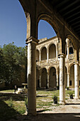 Cloister, Palace of the Ribera, Bornos. Pueblos Blancos (white towns), Cadiz province, Andalucia, Spain