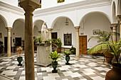 San Juan de Dios hospital church, Arcos de la Frontera. Pueblos Blancos (white towns), Cadiz province, Andalucia, Spain