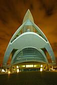 Palace of Arts Reina Sofia by S. Calatrava, City of Arts and Sciences, Valencia. Comunidad Valenciana, Spain