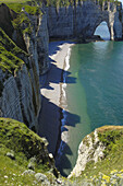 Sea Cliff  Falaise near  Étretat  Côte dAlbatre  Haute-Normandie  Normandy  France