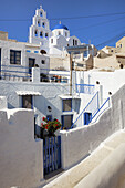 Blue, Church, Domed, Greece, Island, Santorini, Thera, Thira, N45-764415, agefotostock