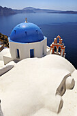 Blue, Church, Crater, Domed, Greece, Island, Of, Santorini, Thera, Thira, N45-764422, agefotostock