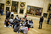 Visitors in the Louvre Museum, Paris. France