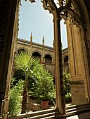 Gothic cloister of the Monastery of San Juan de los Reyes, Toledo, Castilla La Mancha, Spain.