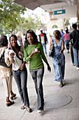 Pedestrians walking down Independence Avenue, Windhoek, Namibia, Africa