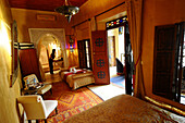 Cosy room at the hotel Riad Armelle, Marrakesh, South Morocco, Morocco, Africa