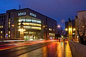stock exchange at twilight outdoors, Zurich, Switzerland
