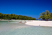 Ile aux Cerf , Lagoon , dream beach, people, Mauritius, Indian Ocean, Africa