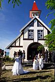 Wedding in Eglise de Cap Malheureux,  Mauritius, Africa
