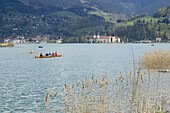 View over lake Tegernsee, Upper Bavaria, Bavaria, Germany