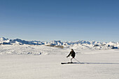 Reinswald Skiing area, panoramic view, Sarn valley, South Tyrol, Italy