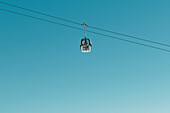 Cable car, Reinswald skiing area, Sarn valley, South Tyrol, Italy