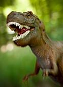 Toy tyrannosaurus rex, detail