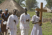 SOUTH SUDAN  Saint Josephs Feast day May 1st being celebrated by Catholic community in Yei  Procession