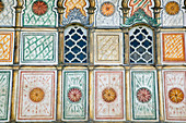 Macedonia. Tetovo. Painted Mosque (Sarena Djamija) built in 1459 with the bequest of two women, Mensure and Hurshida. Exterior Detail