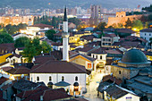 Macedonia. Skopje. Carsija Old Town Overview / Evening