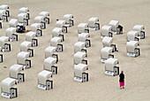 D, Germany, Mecklenburg Western Pomerania, Rügen, Ruegen, Isle, Baltic Sea, Sellin, Holiday, Spring, Springtime, Tourists, Persons, Beach, Beach Chairs, Order, Form