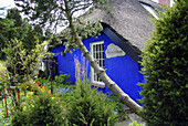D, Germany, Mecklenburg Western Pomerania, Hiddensee, Isle, Baltic Sea, Vitte, Blaue Scheune, Art Gallery, Thatched Roof House