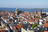 D, Germany, Europe, Mecklenburg Western Pomerania, Stralsund, Strelasund, Baltic Sea, Landscape, Panorama, Old Town, Architecture, Building, Buildings, urban, City