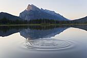 Mt Rundle, Vermillion Lake & ripple, Banff National Park, Alberta, Canada