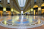 Shops in gallery, Italy