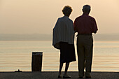 Elderly couple, Sirmione, Lake Garda, Lombardy, Italy